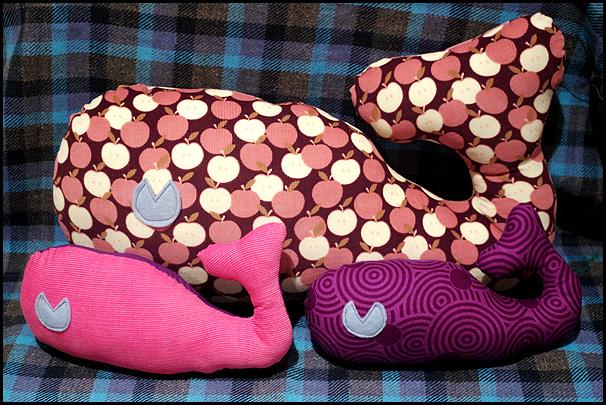 whale cushions