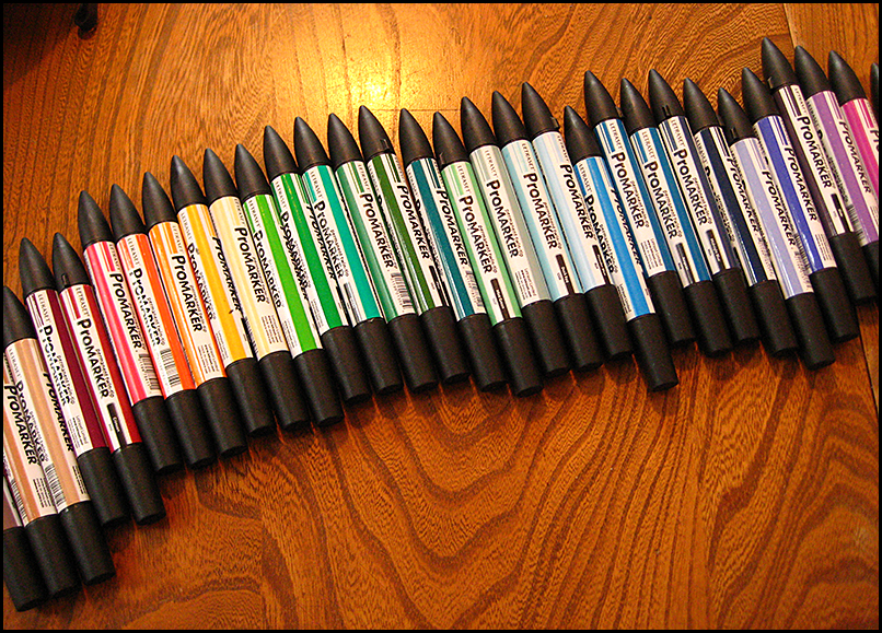 line of art markers