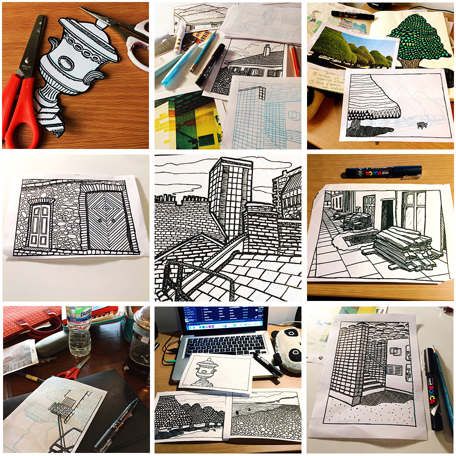 colouring book grid