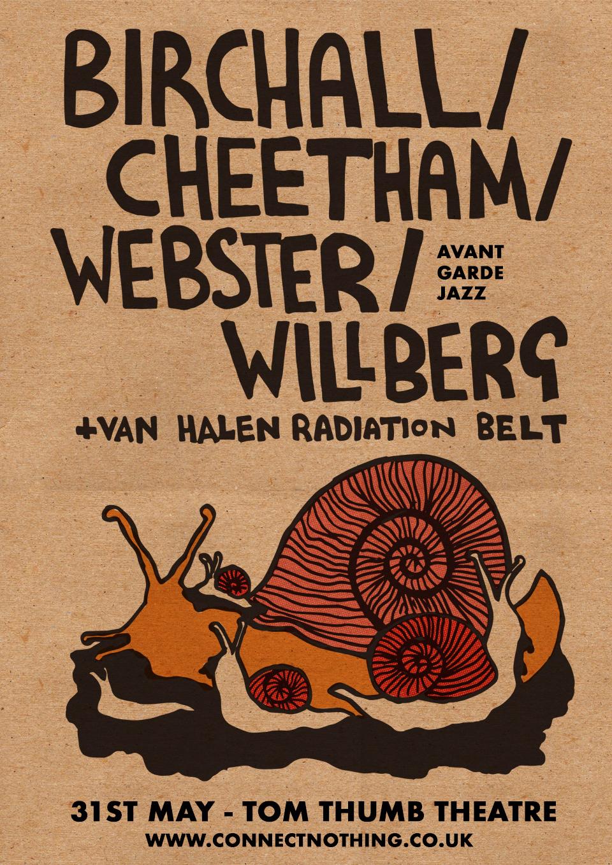 Webster jazz group gig poster