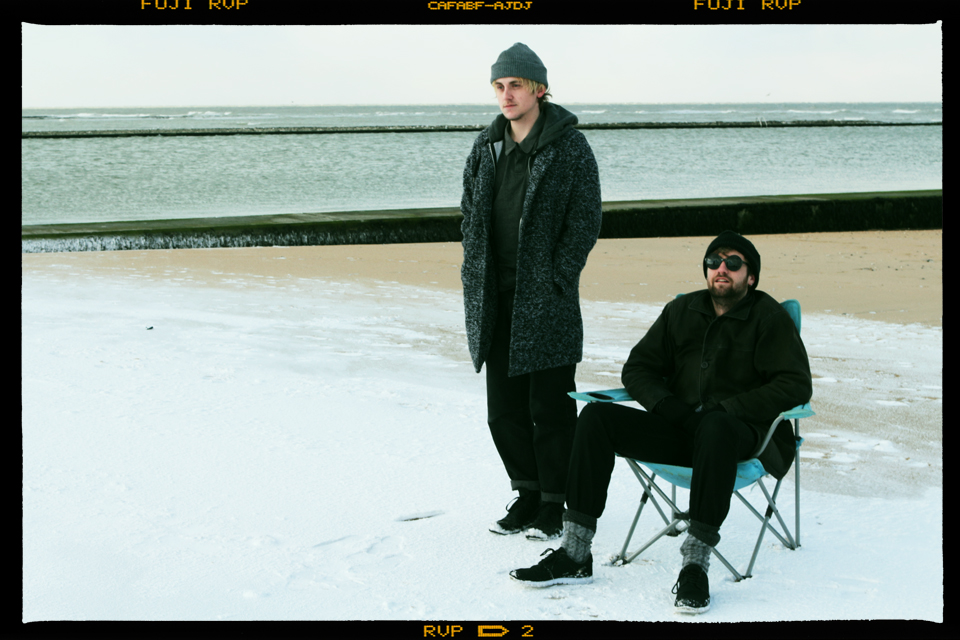 Very Friendly band in the snow on the beach