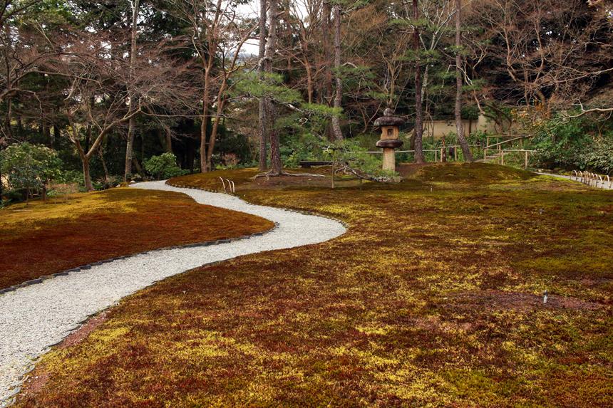 moss garden path