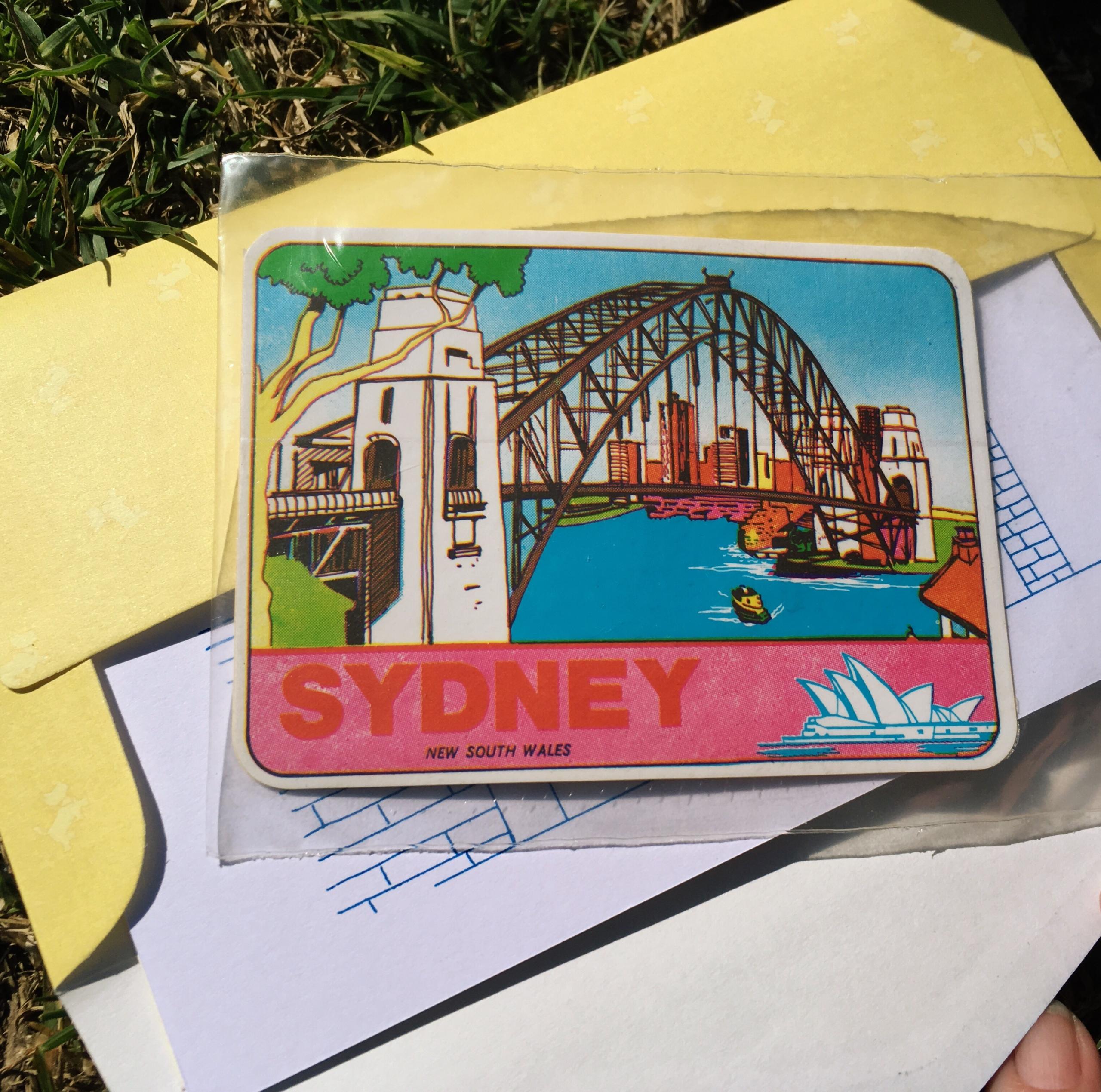 vintage sydney sticker
