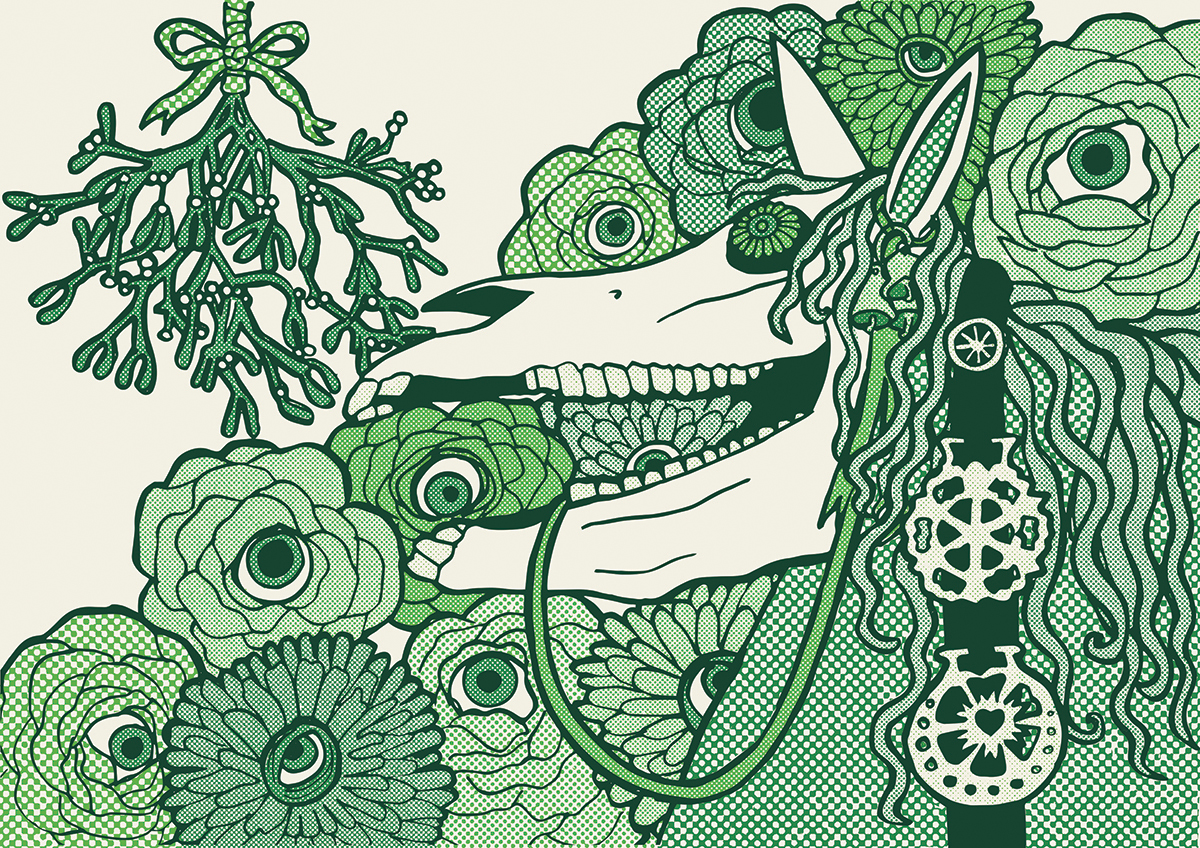 mari lwyd illustration