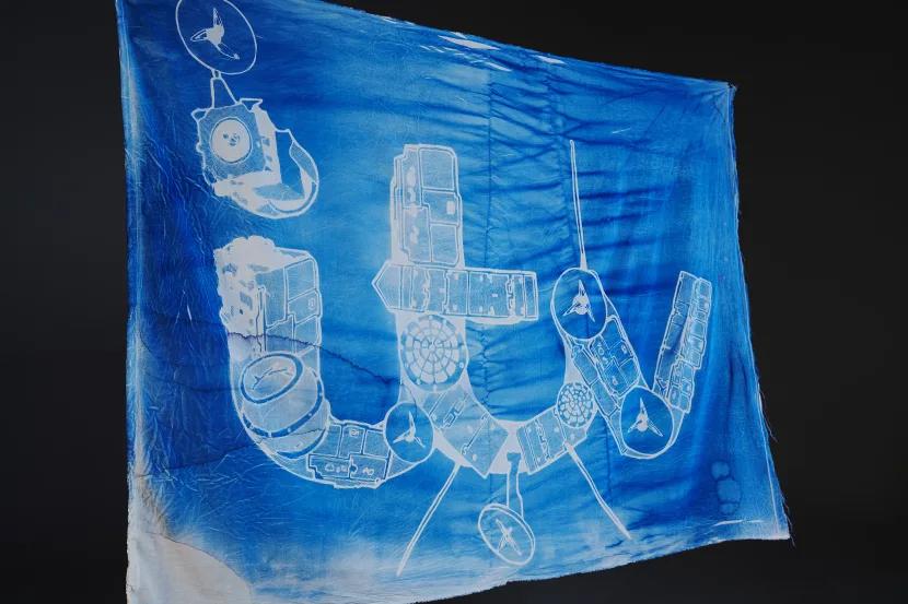itv logo cyanotype flag